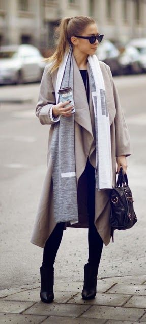 Causal look Coat Oversized Scarf / Best LoLus Street Fashion