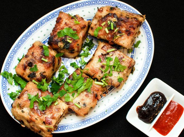 Studded with Chinese sausage, Chinese bacon, and shiitake mushrooms, this steamed (and then, optionally, pan-fried) daikon radish-based snack is a classic at both the Chinese New Year, and also on dim sum tables year-round.