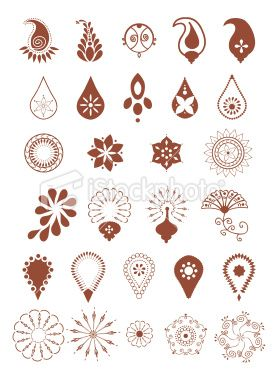 mehndi designs vector royalty free stock vector art illustration - Small Designs