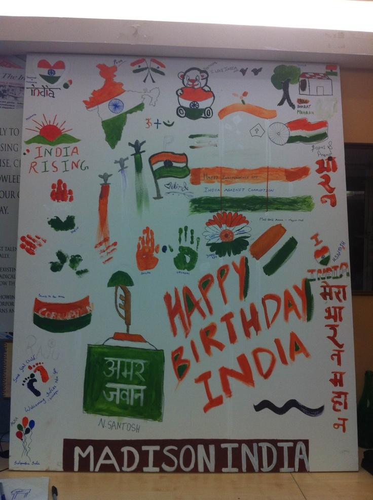 #HappyBirthday #India #IndependenceDayFeviArtWay