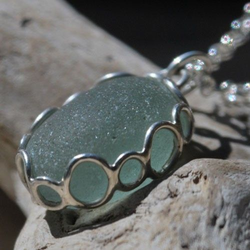 Sea glass pendant from TheGlassCrafter on Etsy