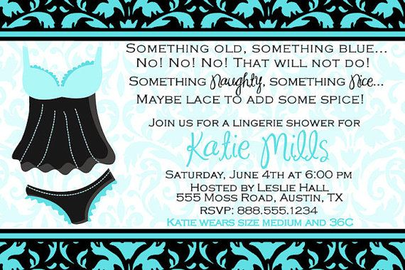 Love the lingerie shower idea. Customized Bridal Lingerie Shower Invitation by DewDropDigitals, $12.00