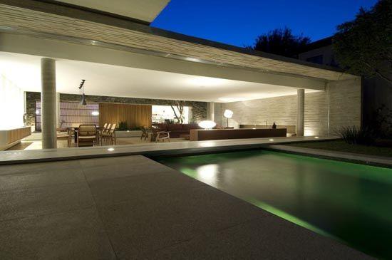 Beautiful Modern Concrete House Design 6 in Sao Paulo, Brazil by Marcio Kogan