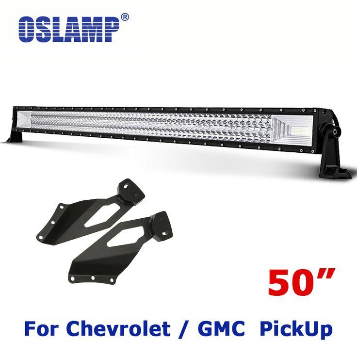 best price oslamp for chevrolet silveradogmc sierra remodel 702w 50 4x4 driving led light bar #50 #inch #led #light #bar