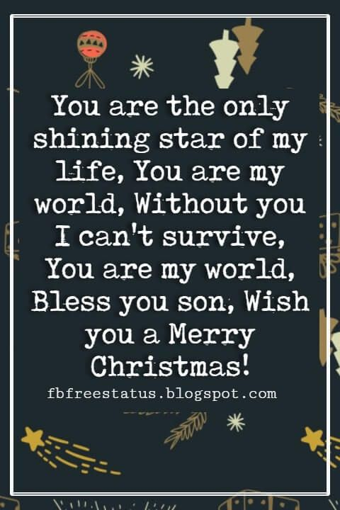 40 Christmas Messages For Son Christmas Quotes Christmas Quotes