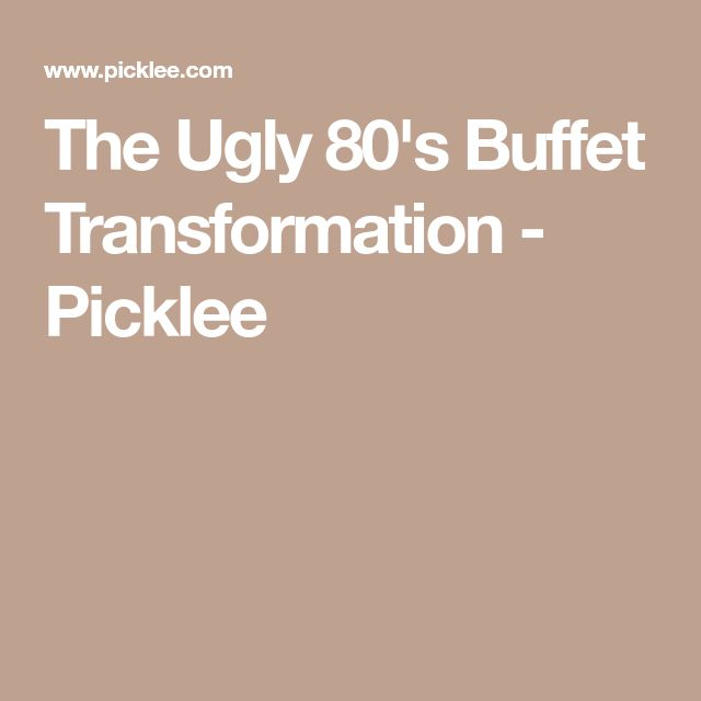 The Ugly 80's Buffet Transformation - Picklee