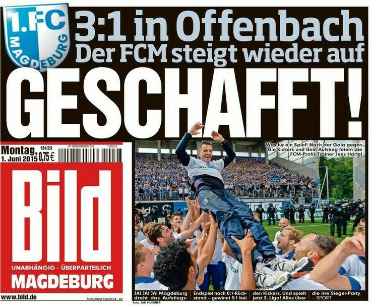 1. FC Magdeburg FCM Aufstieg 3. Liga BILD