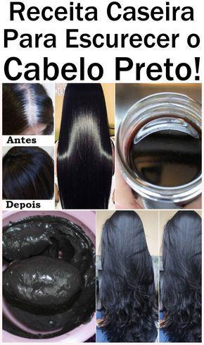 Receita caseira para escurecer o cabelo preto! #cabelocacheado #cachos …   – Receitas