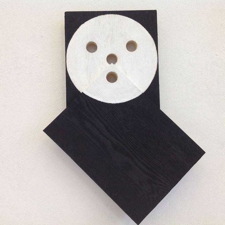 Alfonso Hüppi, ohne Titel, 2015, Kaseinfarbe auf Holz, 40 x 30 x 4,5 cm, Auflage 10