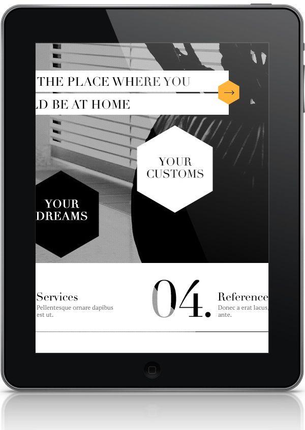 Interior Design Website by Michal Wierzbicki, via Behance