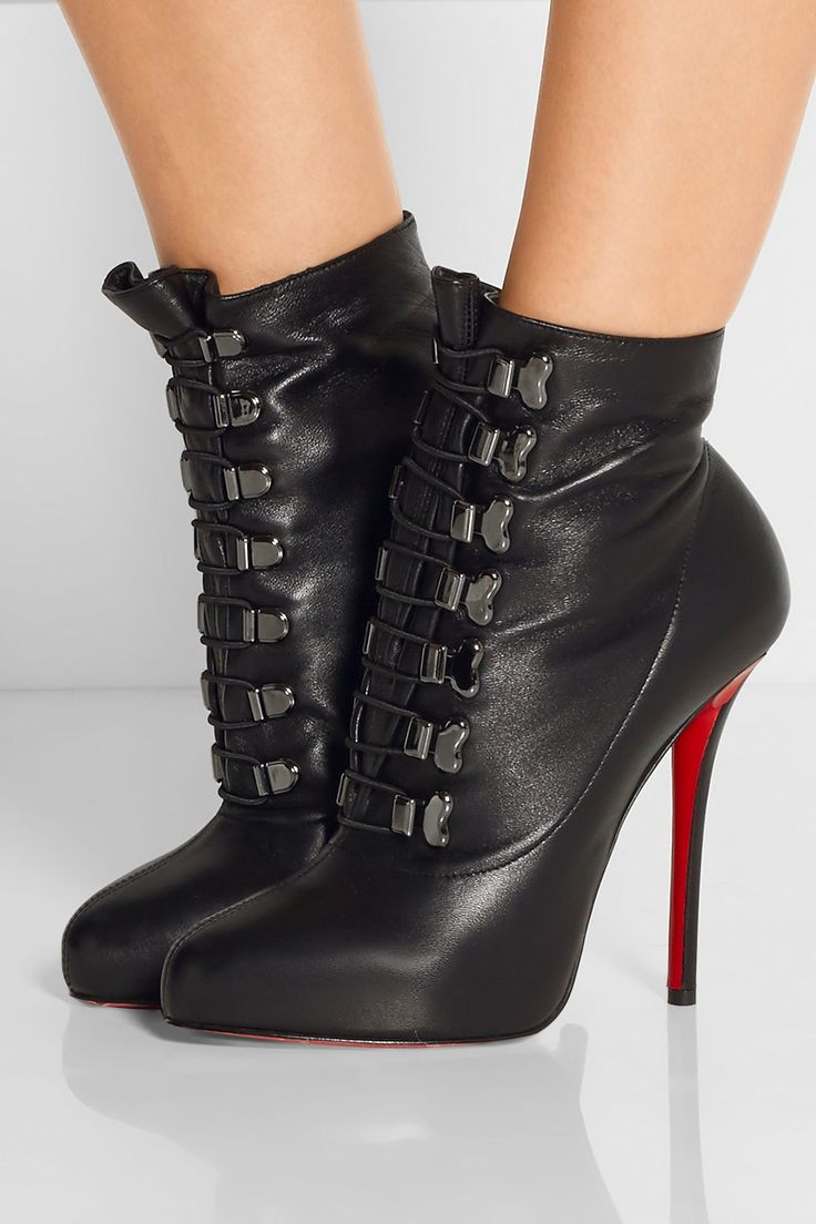 sneakers fake - Christian Louboutin | Troopista 120 lace-up leather ankle boots ...