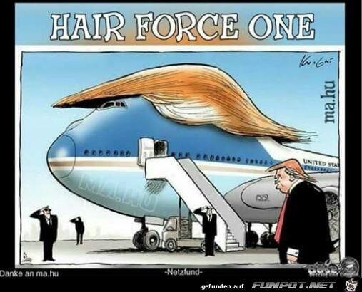 lustiges Bild 'Das neue Flugzeug des USA-Präsidenten.jpg'- Eine von 5260 Dateien in der Kategorie 'Cartoons / Comics' auf FUNPOT.