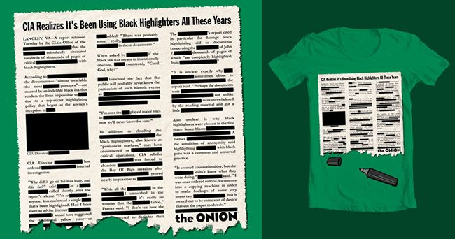 The Onion – Black Highlighters