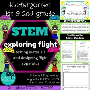 Science K-2: STEM Flight Lessons - UNIT of WORK - NGSS, CCSS & Aust. Curriculum