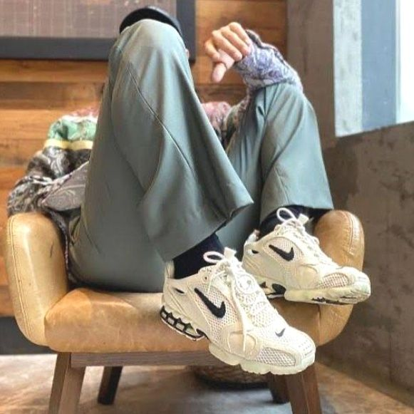 Nike Air Zoom Spiridon Cage 2 Stussy Fossil 2020 Thanksgiving Outifts Trends Outfit Casual Shoes In 2020 Nike Air Zoom Sneakers Fashion Nike Outfits