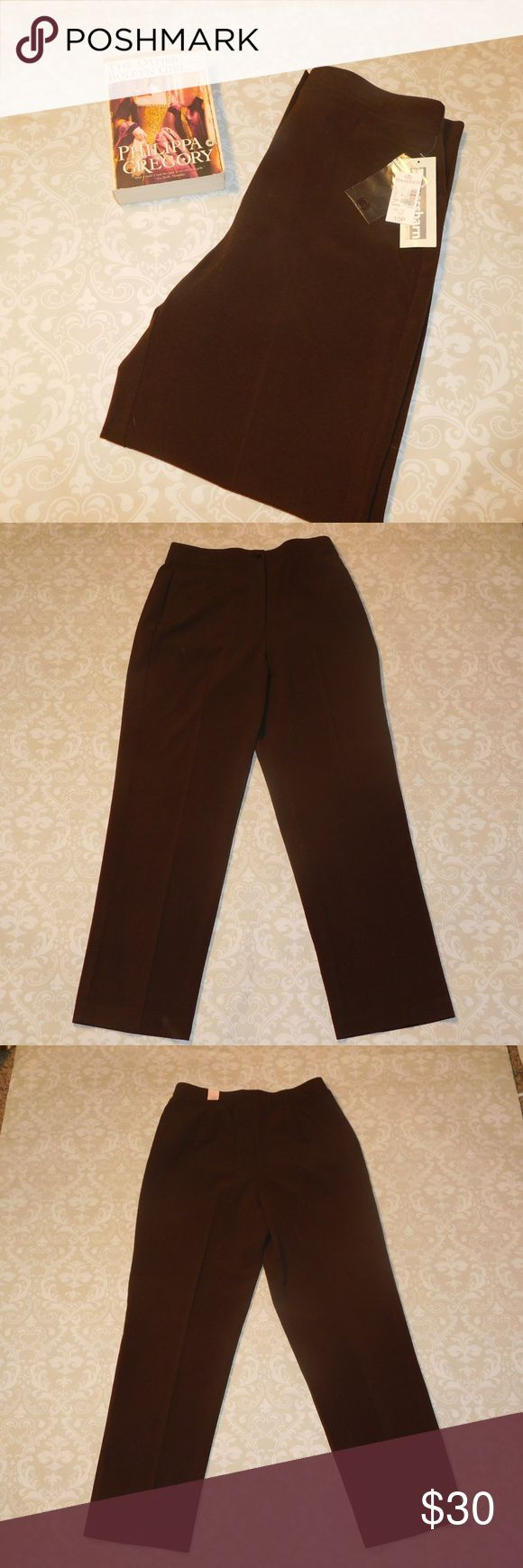 NWT Dress Barn Slacks New Brown Dress Barn petite dress pants. Size 10P. Measurements: Waist: 15 inches Rise: 13 inches Inseam: 29 inches. Dress Barn Pants Trousers