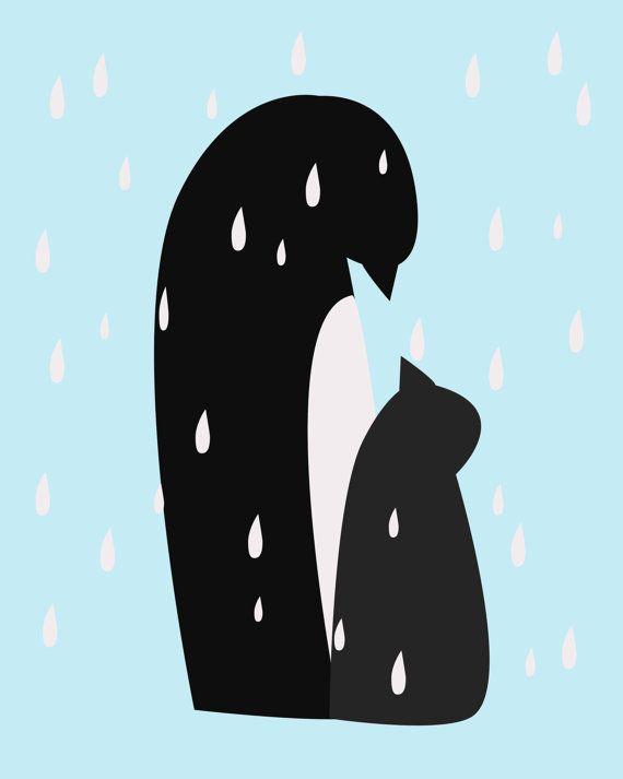 A sweet penguin print