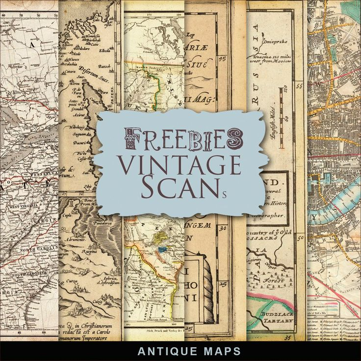 New Freebies Kit of Antique Maps 267