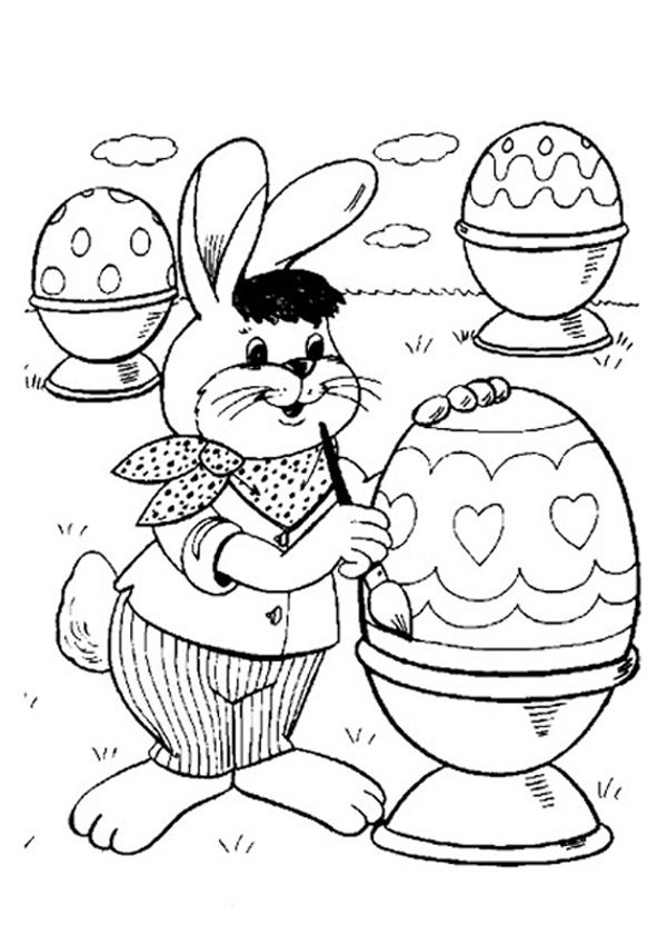 Printable! FREE Online Easter Bunny Painting / Colouring Page -- Kidspot #easter #craft