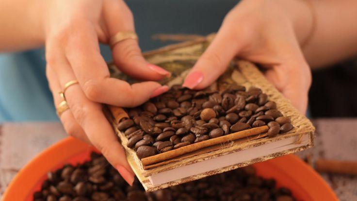 Кофейный декор блокнота. Мастер-класс