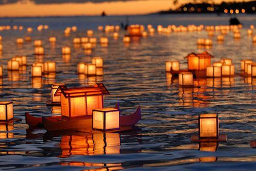 lanterns on the ocean