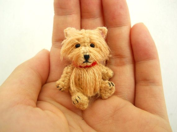 omg i am in love -Fawn Westie  Crochet Miniature Dog Stuffed Animals  Made by SuAmi, $28.00