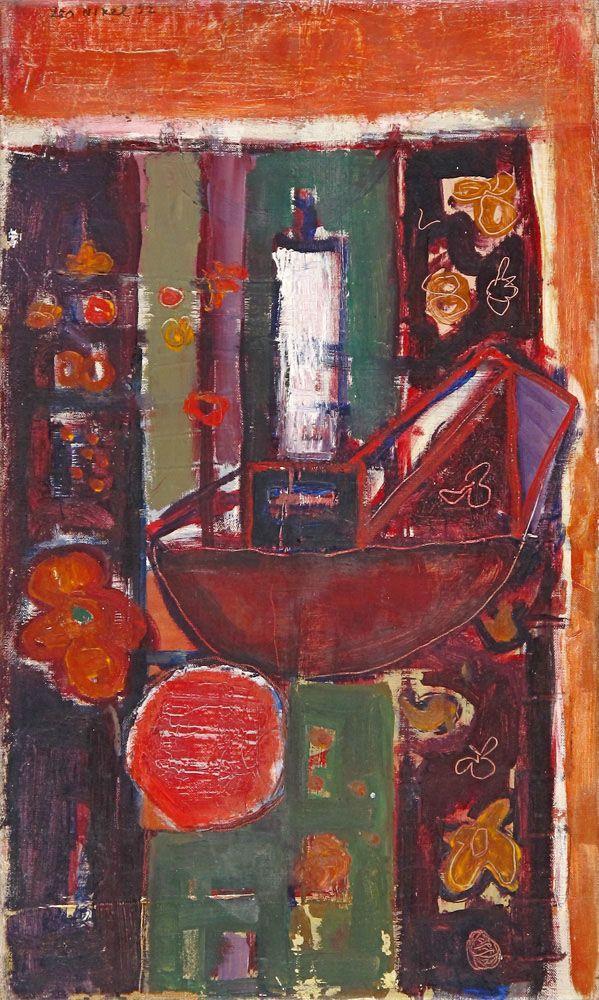 Lea Nikel – Untitled, 1952, Oil on canvas, 45x27 cm