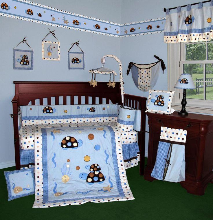 Custom Baby Bedding Turtle Parade 15 Pcs Crib This Set Is Machine Washable