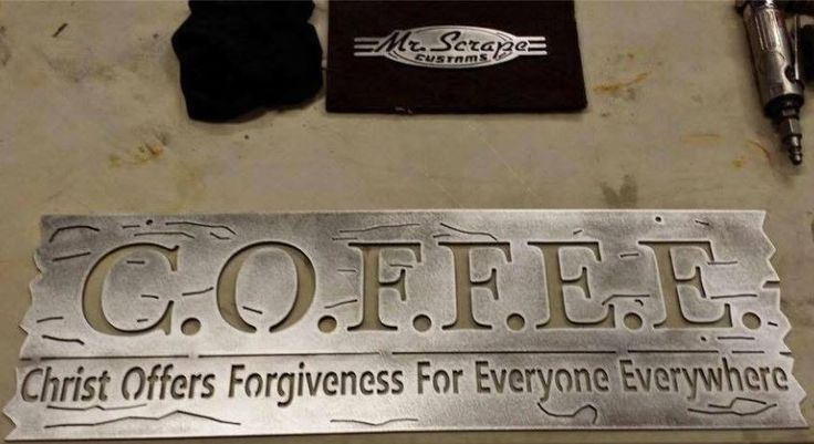 COFFEE acronym that gives PEACE >> Christ Offers Forgiveness For Everyone Everywhere. That's John 3:16 AND 17, by the way... the word is ALL people loved by God and offered His gift. A FUNKY MOOD LIFTER! - https://www.pinterest.com/DianaDeeOsborne/funky-mood-lifters/ - Found on Facebook. But God gives free will still: Doesn't force anyone to accept the Peace He offers, or the Abundant Life in the middle of Satan trying to destroy us -- John 10:10.