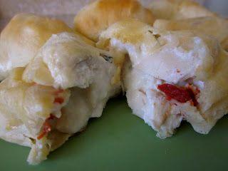 Creamy Chicken and Bacon Pockets #Recipe #Maindish