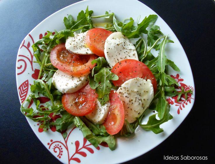 Salada de Rúcula, Tomate e Mozzarella