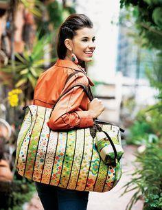 Como fazer bolsa de viagem em tecido - Artesanato passo a passo!