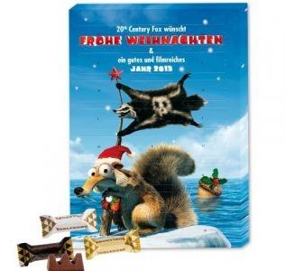 Promotional advent calendar A4 Toblerone chocolate Christmas advent calendar