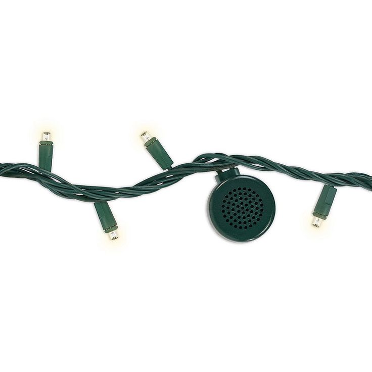 Bright Tunes LED String Lights with Bluetooth Speakers, Green