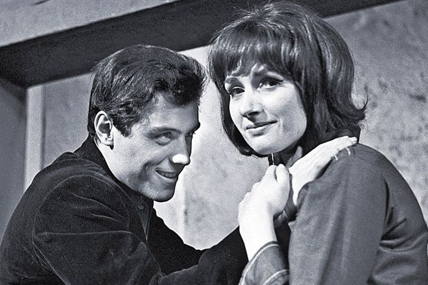 Ian McShane and Elizabeth MacLennan in the ITV Play of the Week, The Truth About Alan. ATV 1963