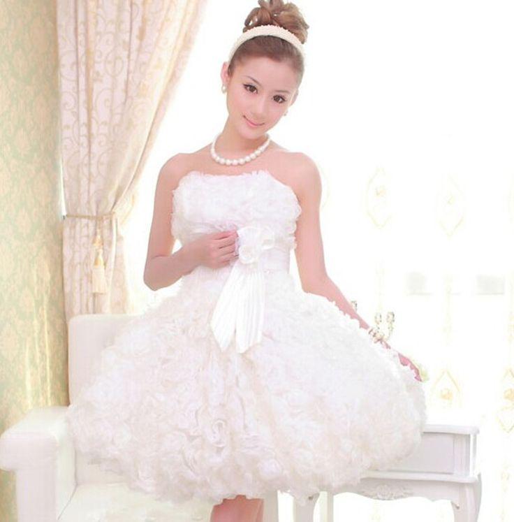 754293761025f  超良い品質 ウェディングドレス ミニ・パーティードレス・二次会ドレス・ エンパイア