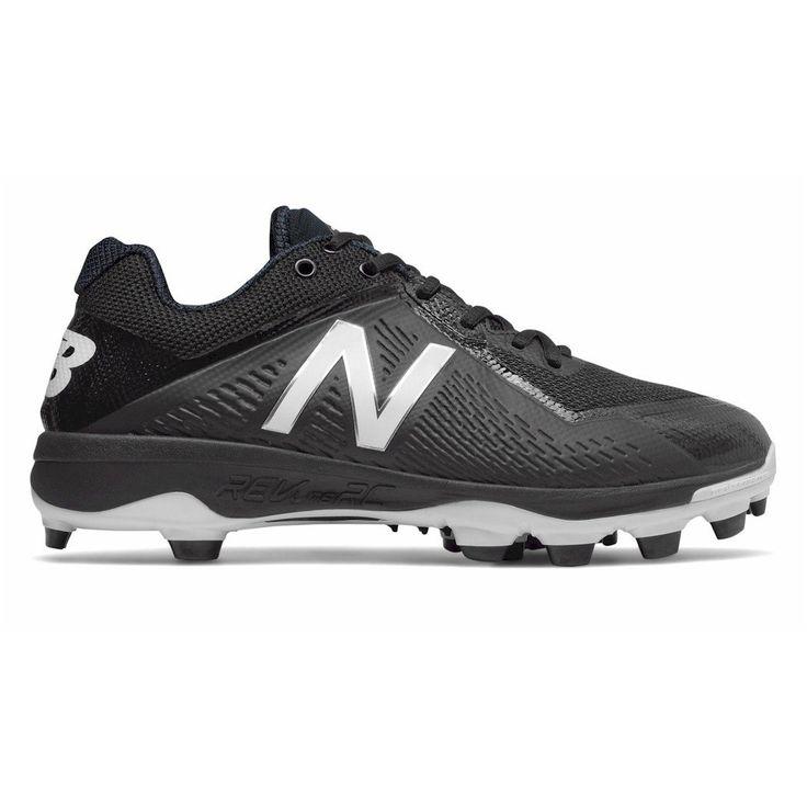 New Balance PL4040V4 Mens Molded Baseball Cleat, Black/White