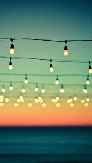 Hanging Lights Bokeh Sunset