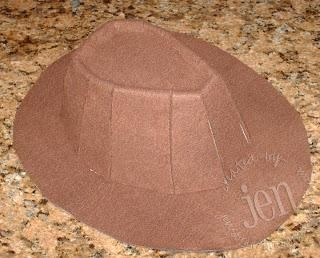 DIY fedora with poster board and felt