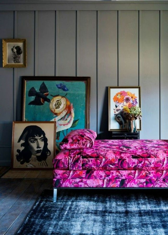 1000 id es sur le th me chambres bleu marine sur pinterest murs de chambre - Mur couleur framboise ...