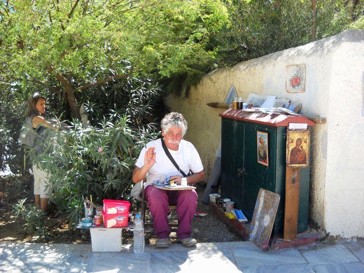 Pouliční umělec - Athény - Řecko