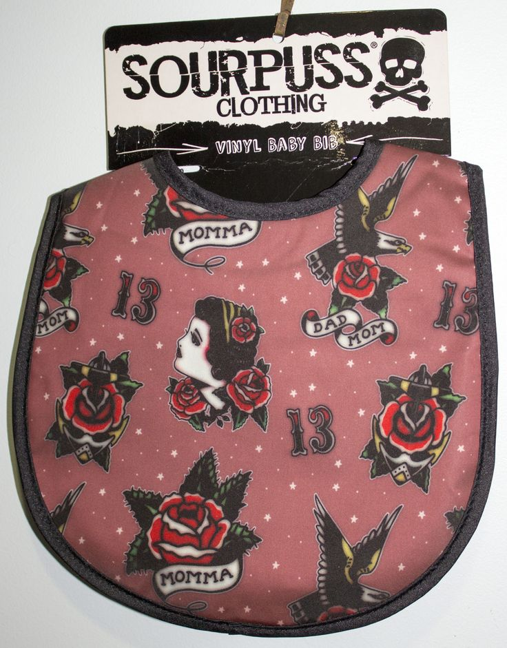 Tattoo print bib.  http://bumpandbunny.com/collections/sourpuss-clothing