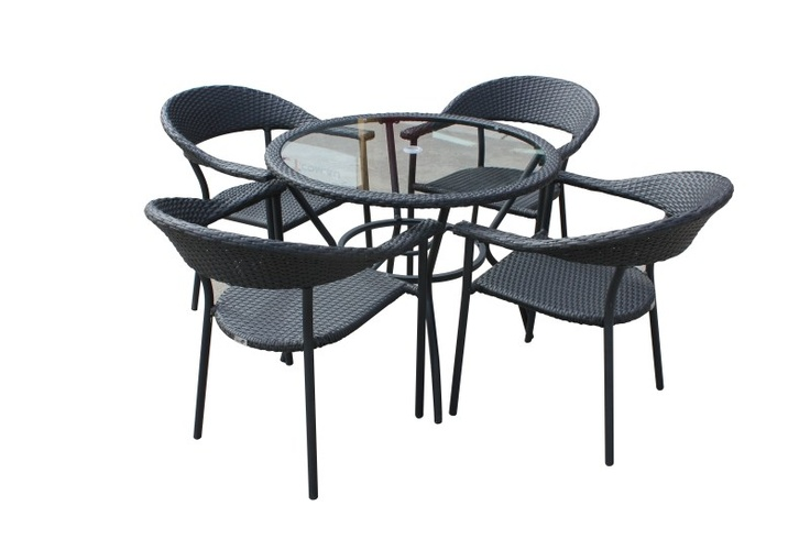 Carlita 5pc balcony set Black $499