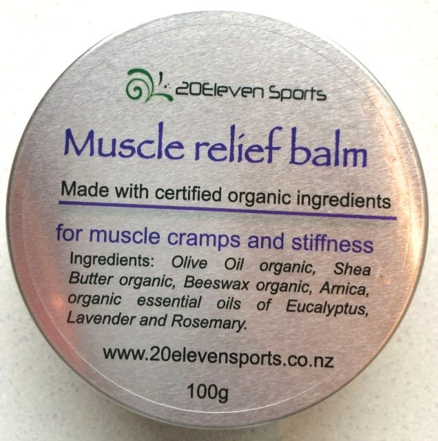 Organic muscle relief balm - 20Eleven Sports