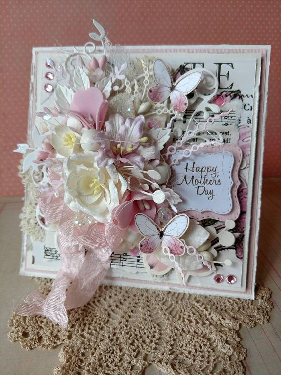 Beautiful Handmade Pink Shabby Chic Happy Mother S Day Greeting