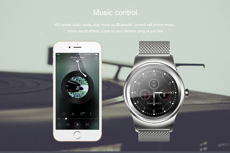 Bluetooth Heart Rate Monitor Smart Watch with Siri Voice Control