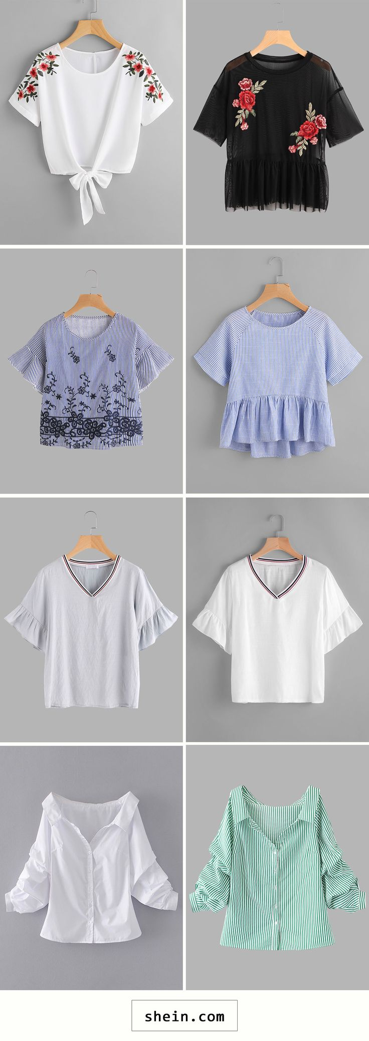 Blouses start at $8!