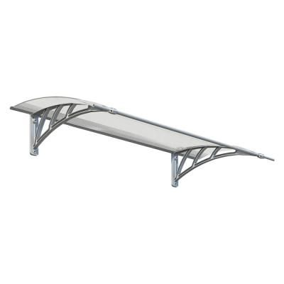 Palram Neo 1350 4 Ft 6 In Gray Clear Twin Wall Door Canopy Awning 703416 The Home Depot Door Awnings Door Canopy Patio Awning
