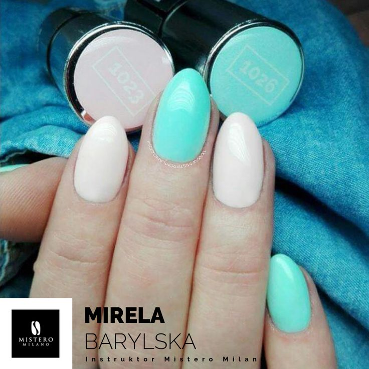 pastel nails hybrydy
