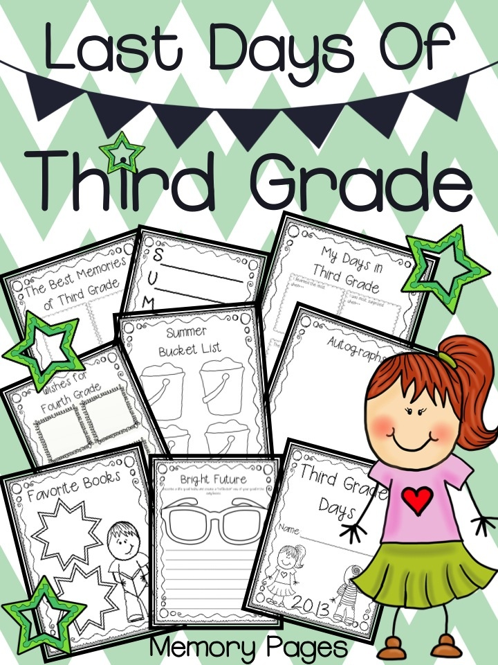 End of the year writing activities for third grade